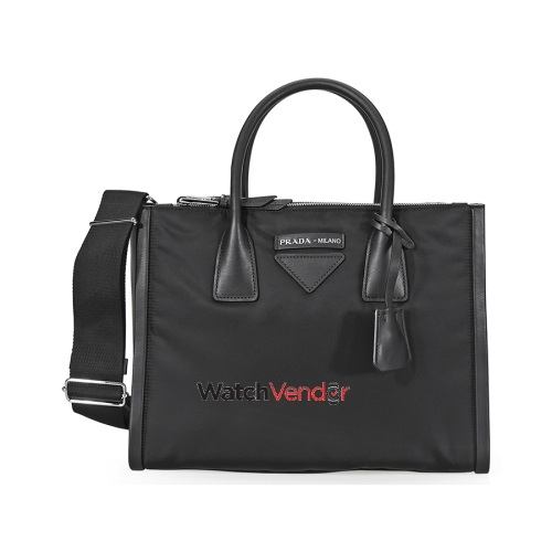 95b6ceac8d Prada Concept Calf Leather and Fabric Shoulder Bag- Black   Shoulder Bags - Best  Buy Canada