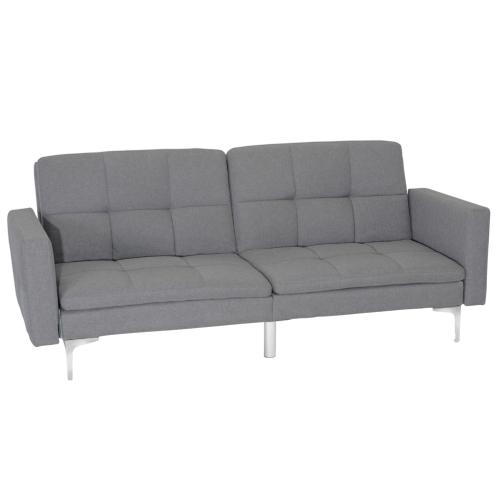 Sensational Viscologic Noble Split Back Convertible Futon Sofa Bed Grey Pdpeps Interior Chair Design Pdpepsorg