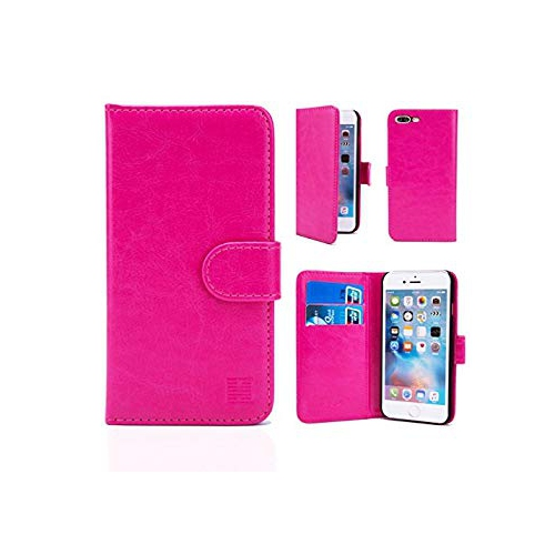 32nd Book Style Faux Leather Wallet Case for Apple iPhone 7 Plus iPhone 8  Plus - Hot Pink   iPhone 8 3bcf15f324c80