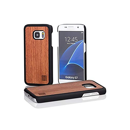 lowest price f97d6 ce7c8 32nd Wooden Back TPU Shell Phone Case Cover for Samsung Galaxy S7 (SM-G930)  - Made from Real Wood - Cherry