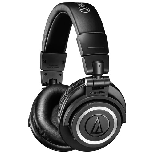8ca7841ae4a67c Overview. Enjoy studio-quality sound with the Audio Technica ATH-M50xBT  headphones. These over-ear ...