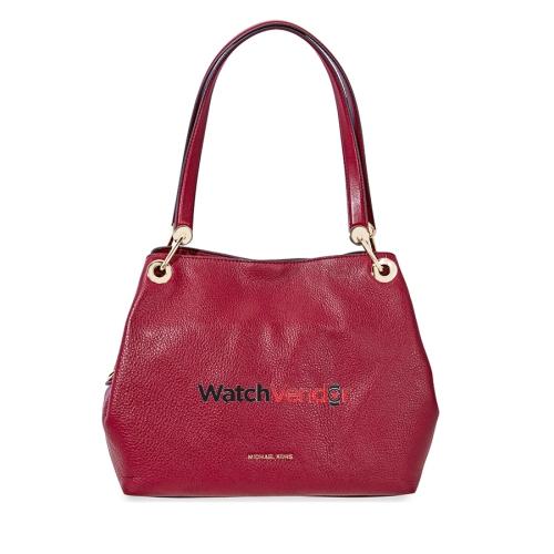 Michael Kors Raven Large Leather Shoulder Bag - Maroon   Shoulder Bags -  Best Buy Canada 0f59b7e3308f6