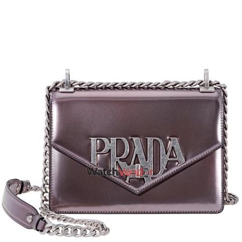 Prada Leather Crossbody Bag- Glossy Grey   Crossbody Bags - Best Buy Canada 316be8c061984