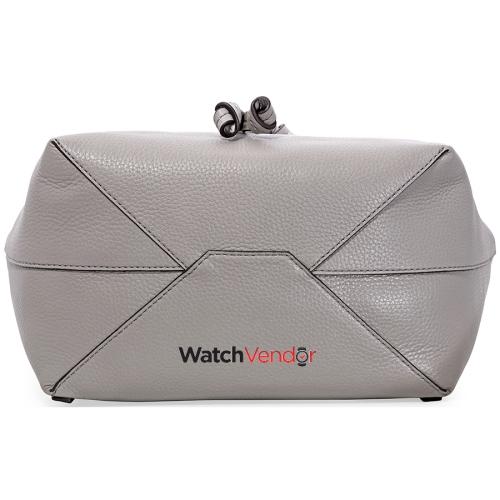 72db77cadf8d Michael Kors Junie Medium Pebbled Leather Shoulder Bag- Pearl Grey ...