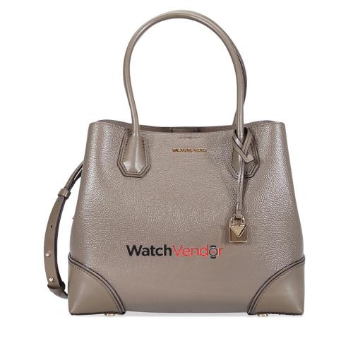 a2ac37783cc7 Michael Kors Mercer Gallery Medium Leather Satchel- Mushroom   Tote Bags -  Best Buy Canada