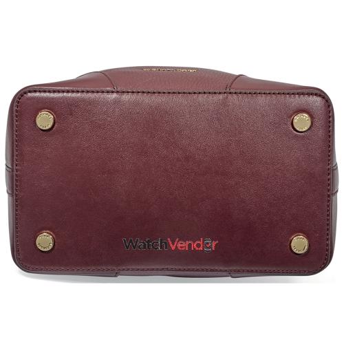 59c9fb0f644d Michael Kors Pebbled Leather Bucket Bag- Oxblood   Best Buy Canada