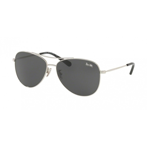 62aab14199 Coach Dark Grey Solid Aviator Ladies Sunglasses HC7079 901587 58    Sunglasses - Best Buy Canada