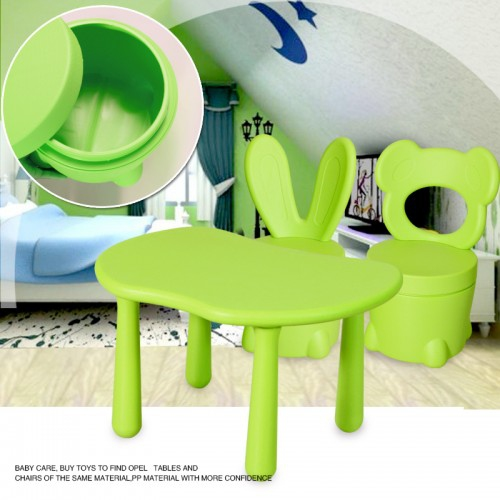 Kids Solid Table And 2 Storage Spacechairs Set Green Best Buy Canada
