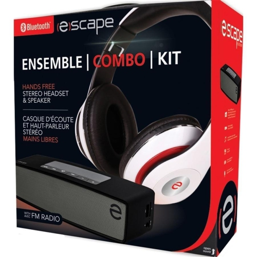 2a8799e0ffa Escape Hands Free Combo Kit Headset BTS-15 and Speaker SPBT925 Stereo  Bluetooth | Best Buy Canada