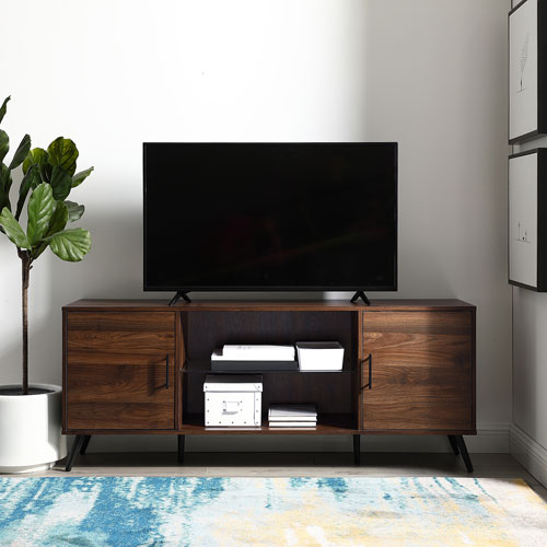 "Winmoor Home 64"" TV Stand - Dark Walnut"