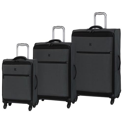 IT Luggage Guardian 3-Piece Soft Side Luggage Set - Grey