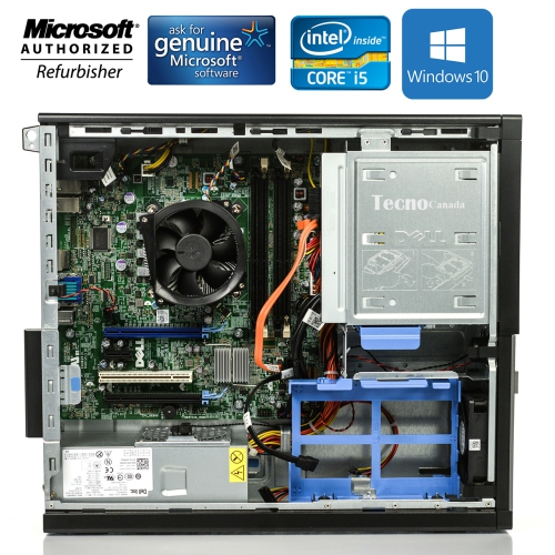 DELL OptiPlex 990 Desktop Computer i3 2100 16GB 128GB SSD 250GB HDD DVD  Windows 10 Professional WiFi - Refurbished