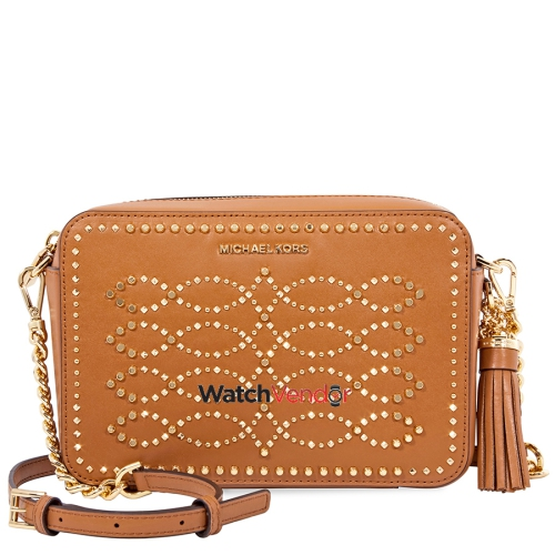 Michael Kors Ginny Medium Studded Leather Crossbody- Acorn   Crossbody Bags  - Best Buy Canada 2847a79cd903a