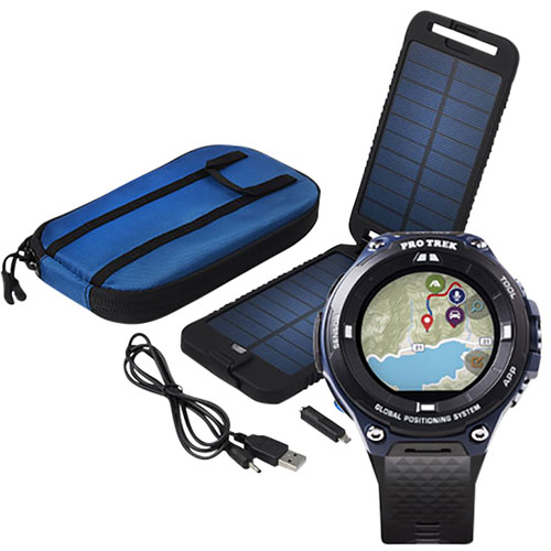 la mejor actitud b237b 000ef Casio WSD-F20 34mm Smartwatch with Solar Powered Charger - Blue - Only at  Best Buy