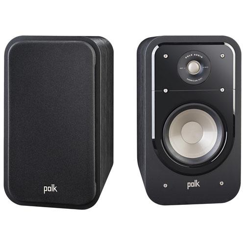 Haut-parleur d'étagère S20 125 W de Polk Audio - Paire - Noyer noir