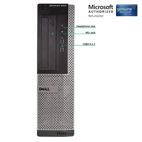 Dell Optiplex 3010 Desktop PC Computer Core i5 3470 16GB 240GBSSD+2TB DVDRW  Windows 10 Pro HDMI WiFi (Refurbished)