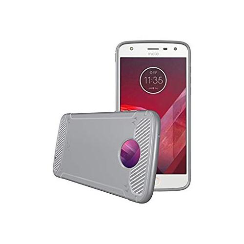 new styles 560e3 889f2 TUDIA Motorola Moto Z2 Play Case, Carbon Fiber Design Lightweight [TAMM]  TPU Bumper Shock Absorption Cover for Motorola Moto Z