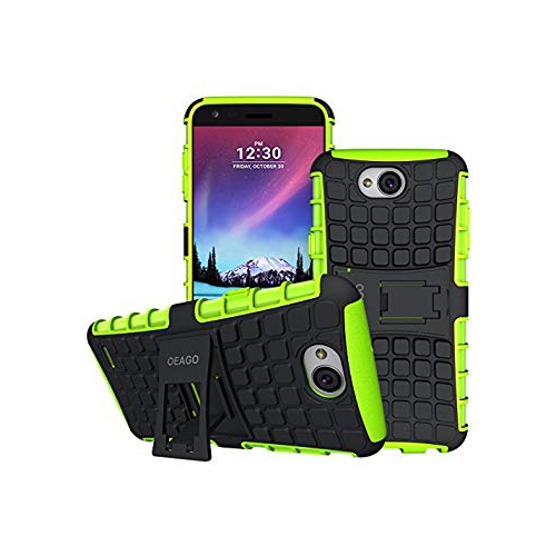 new style 7c01d 156bf LG X Power 2 Case, OEAGO [Shockproof] [Impact Protection] Tough Rugged Dual  Layer Protective Case with Kickstand for LG X Powe