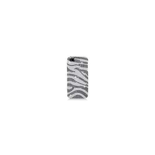 Eagle Cell PDIPHONE5F370 RingBling Brilliant Diamond Case for iPhone 5,  Retail Packaging, Black Silver Zebra