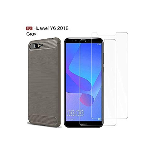 uk availability 838c4 e1686 MYLB Compatible with Huawei Y6 2018 case,with Huawei Y6 2018 Screen  Protector. (3 in 1)[Scratch Resistant Anti-Fall] Fashion S