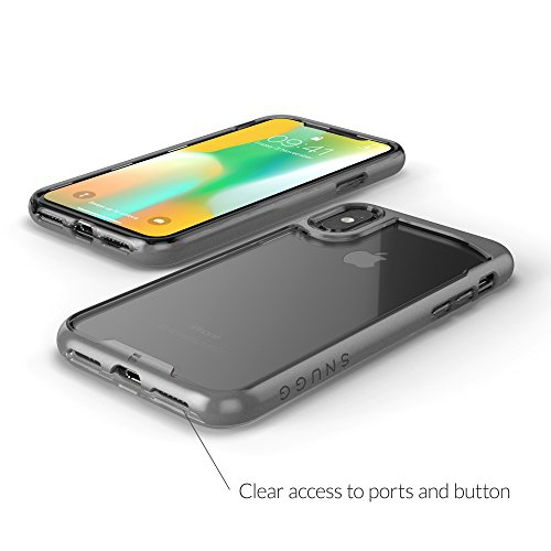 detailing d1753 5d8f9 iPhone X Case, Snugg [ Vision Series ] Apple iPhone X Case Clear [ Grey ]  Ultra Thin Lightweight Protective Bumper Cover for i