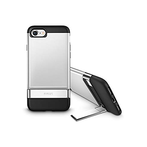 on sale 3aeac 2cea0 iPhone 8 Case, iPhone 7 Case, ESR [Metal Kickstand] Case with [Vertical and  Horizontal Stand] + Hard PC Back + Flexible Bumper