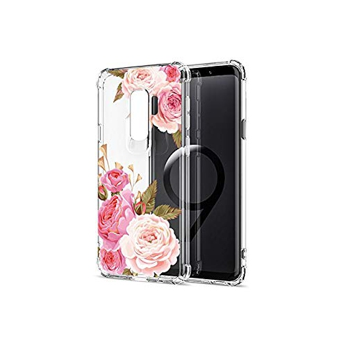 Floral Clear Galaxy S9 Case for Women Girls 5fedce325c