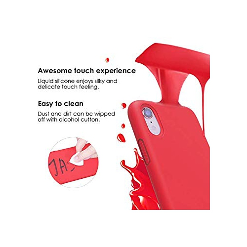 new styles 06678 d552d JASBON Case for iPhone XR 6.1,iPhone XR 6.1 Case,Liquid Silicone Phone Case  with Free Screen Protector Gel Rubber Shockproof C