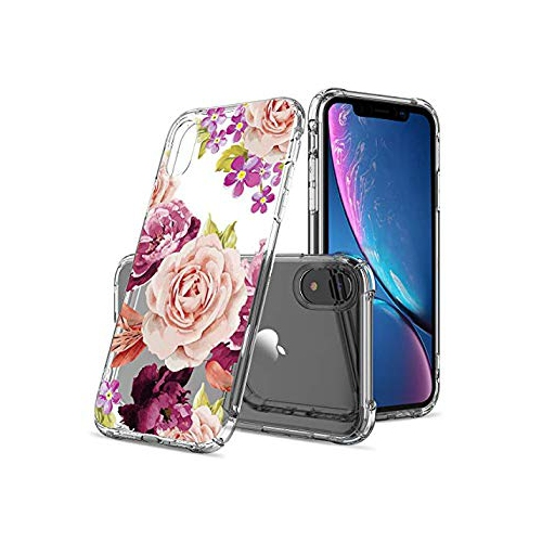 Floral Clear iPhone XR Case for Women Girls a69b22022c