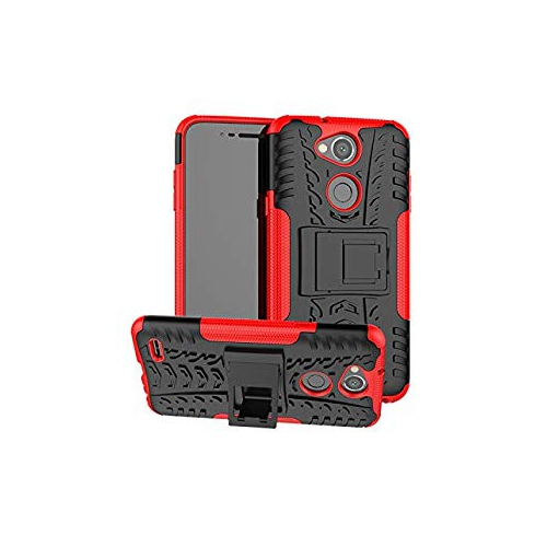 huge discount 3aef0 af6b0 LG X Power 3 Case Urspasol Military Tires Leather LG XPower 3 Case with  Kickstand Heavy Duty Cover Corner Protection Anti-Fall