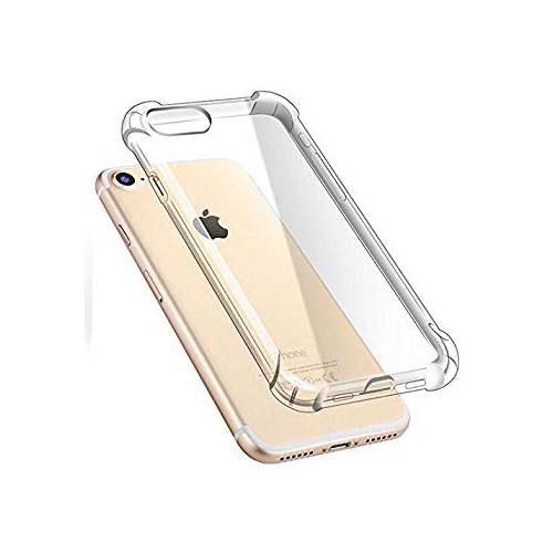low priced 6b2ea 7fc12 2-in-1 iPhone 8 Clear Case + 9H Tempered Glass Screen Protector, Hattie  Transparent Soft Cover with Full-edge Air-cushioned TP