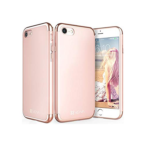 official photos ea0a6 90097 iPhone 8 Case, Vena [Mirage][Chrome] Dock-Friendly Slim Fit Hard Case Cover  for Apple iPhone 8 (4.7