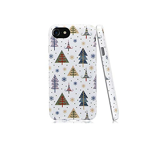 Iphone 6 Plus Christmas Case.Swiftbox Merry Christmas Case For Iphone 6s Plus And Iphone 6 Plus Tiny Snowflakes And Christmas Tree