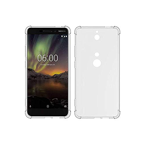 buy popular b629e 2e653 Nokia 6.1 Case TIYA Clear Scratch Proof TPU Four Corners Thickened  Explosion Protection Protective Cover Ultra Soft Gel Transp