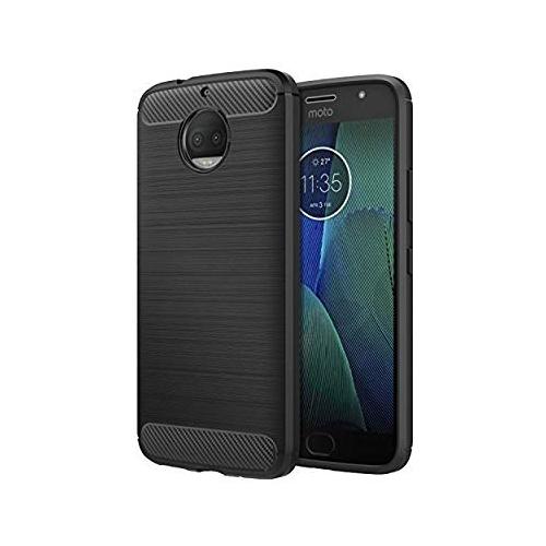 finest selection 1ed2a 006cb Motorola Moto G5S Plus Case, MoKo Flexible TPU Bumper Slim Fit Case Carbon  Fiber Design Lightweight Shockproof Back Cover for