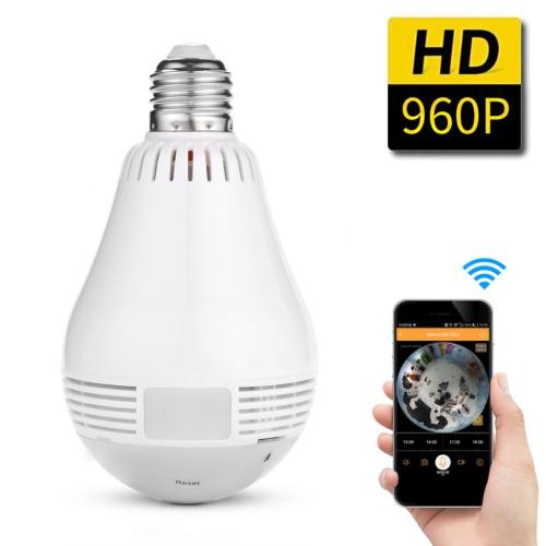 360 Degree Panoramic 960p Hidden Wifi Camera Light Bulb