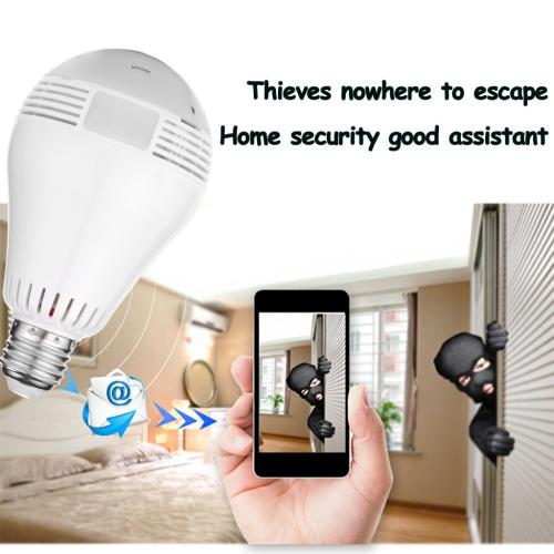 360 degree Panoramic 960P Hidden wifi Camera Light Bulb Mini Security IP  Camera