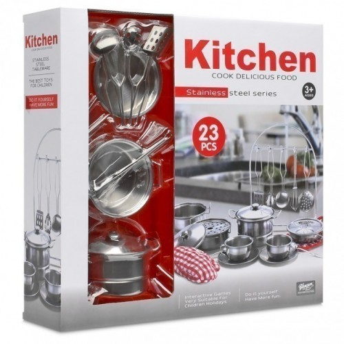 23 Pieces Stainless Steel Kitchen Set Pots Pans And Accessories