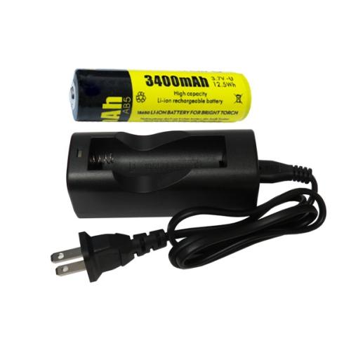 Li Ion Charger Single Slot 18650 36v Li Ion Button Top Battery