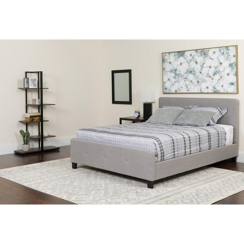 King Platform Bed Dark Gray Lits Et Cadres De Lit Best Buy Canada