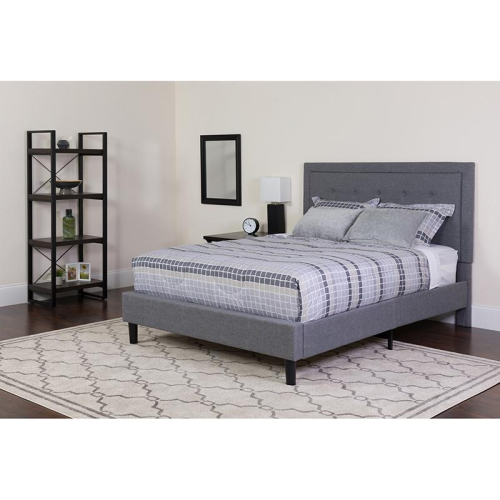 King Platform Bed Set Gray Lits Et Cadres De Lit Best Buy Canada