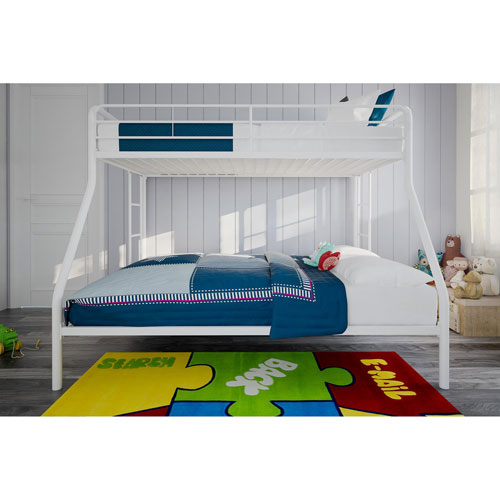 Dhp Contemporary Kids Bunk Bed Twin Over Double White Kids
