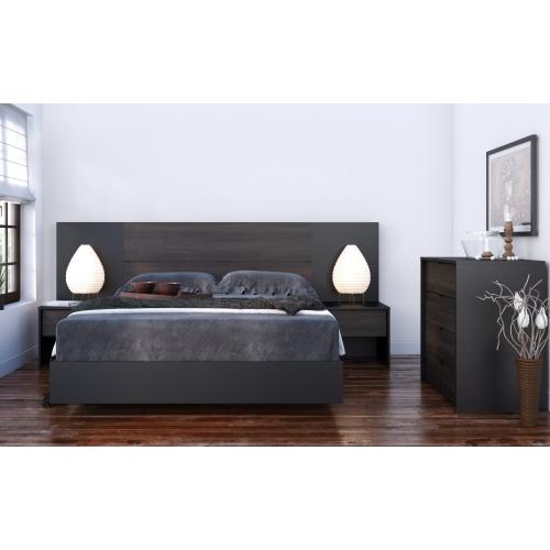 Astounding Opaci T 6 Piece Full Size Bedroom Set Black And Ebony Beutiful Home Inspiration Ommitmahrainfo