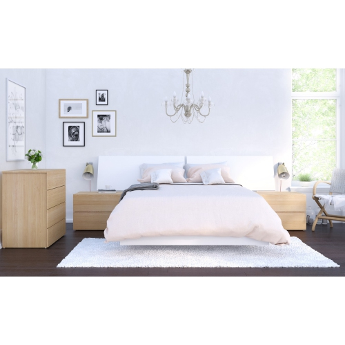 esker 5 piece full size bedroom set natural maple and white rh bestbuy ca