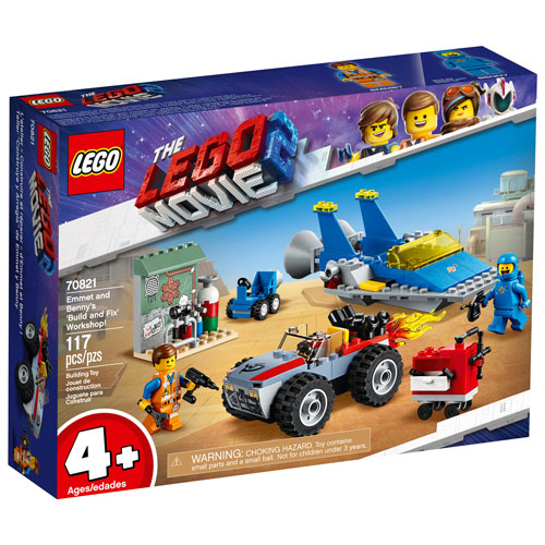 Lego The Lego Movie 2 Emmet And Benny S Build And Fix Workshop 117 Pieces 70821 Best Buy Canada