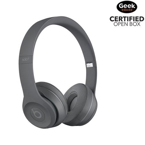 Beats by Dr. Dre Solo 3 On-Ear Sound Isolating Bluetooth Headphones -  Asphalt 02361598c