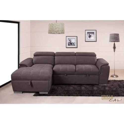 Terrific Urban Cali Fremont Sleeper Sectional Loveseat With Left Facing Storage Chaise Squirreltailoven Fun Painted Chair Ideas Images Squirreltailovenorg
