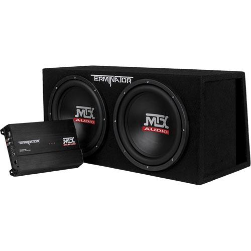 "MTX TNP212DV Dual 12"" 1000w RMS Car Subwoofer Enclosure And Amplifier"