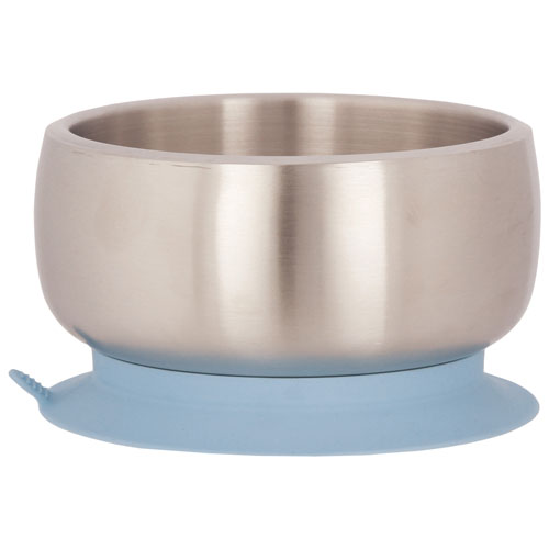 Avanchy Stainless Steel Suction Baby Bowl - Blue