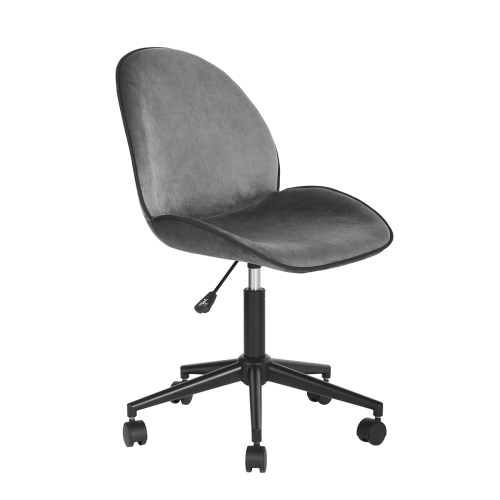 Groovy Fabric Velvet Modern Adjustable Desk Chair Home Office Chair Grey Gmtry Best Dining Table And Chair Ideas Images Gmtryco